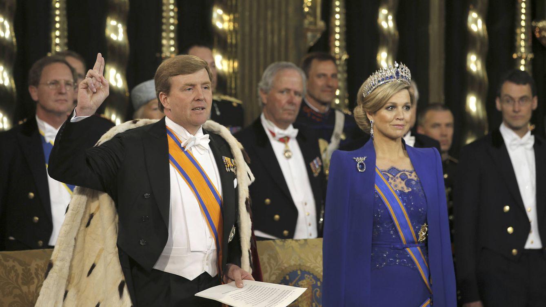 Foto: Guillermo Alejandro y Máxima el día de su investidura como reyes (Gtres)