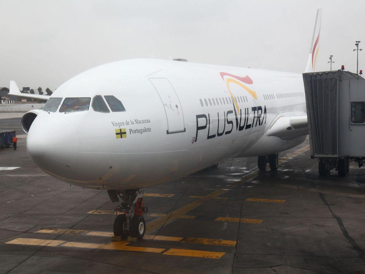 Foto: Un avión de la aerolínea Plus Ultra. (EFE)