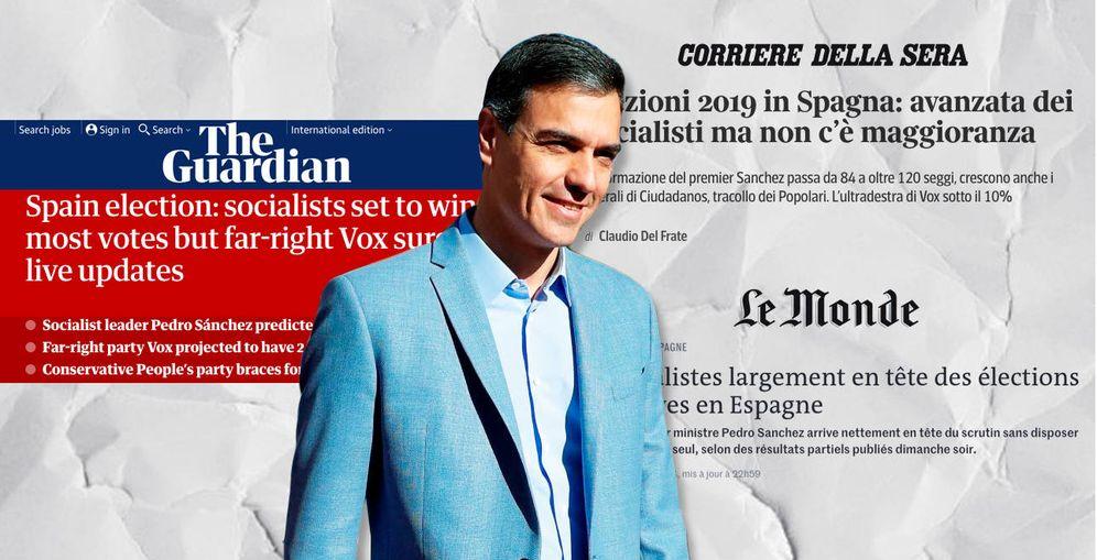 Foto: Algunas noticias de la prensa internacional sobre las elecciones españolas del 28-A. (EC)