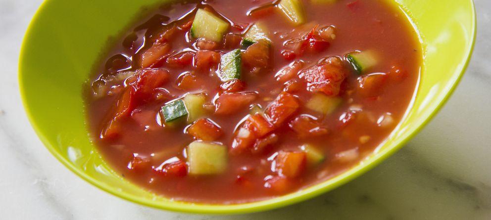 Foto: Una imagen de archivo etiquetada como American-style Red Gazpacho. (Corbis)