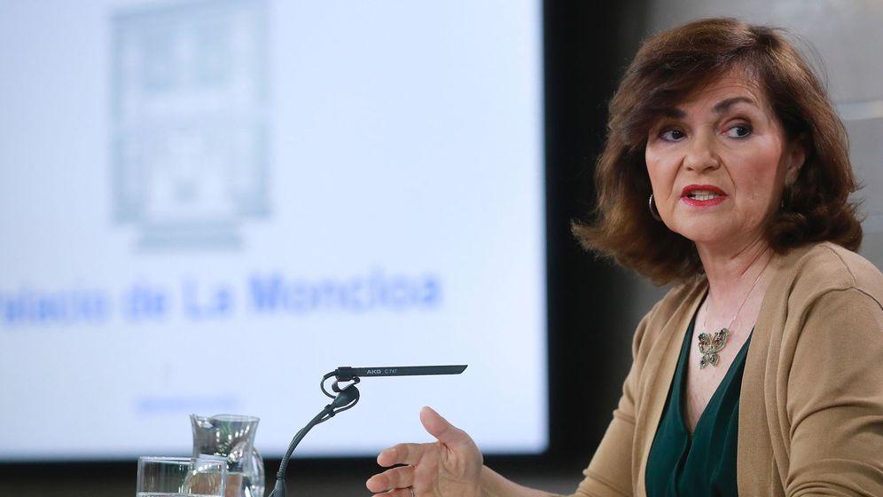 Foto: La vicepresidenta del Gobierno y ministra de Presidencia, Relaciones con las Cortes e Igualdad, Carmen Calvo (Efe)