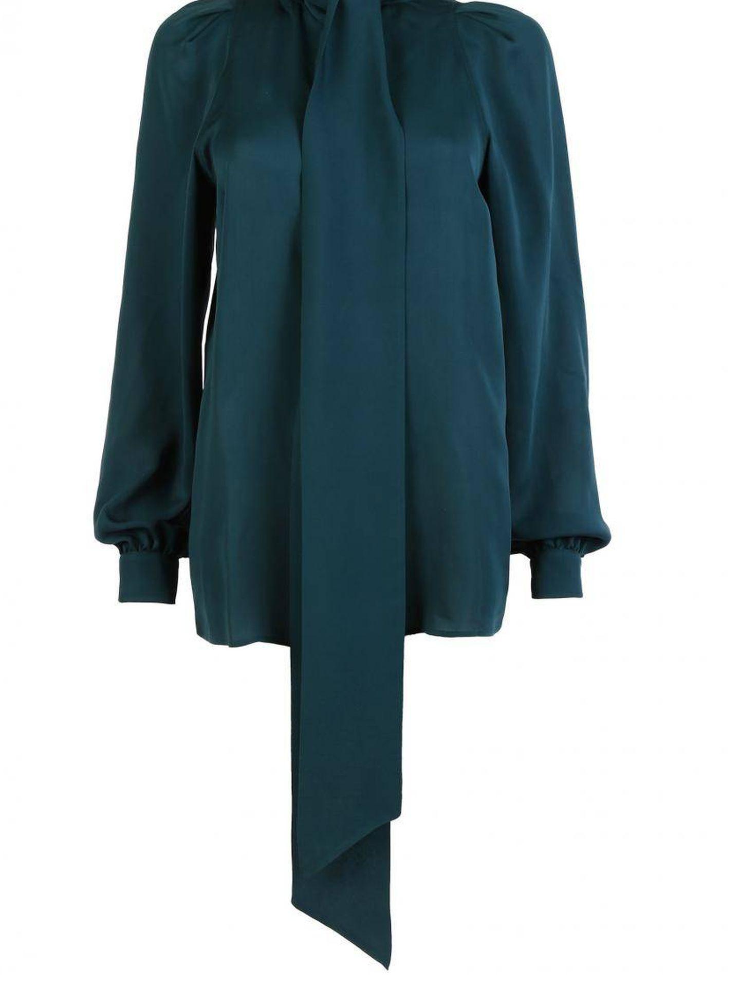 La blusa de Gucci que lleva Máxima. (Cortesía)
