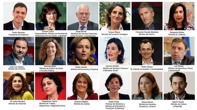 Foto: Todos los ministros del Gobierno de Pedro Sánchez. (EFE)