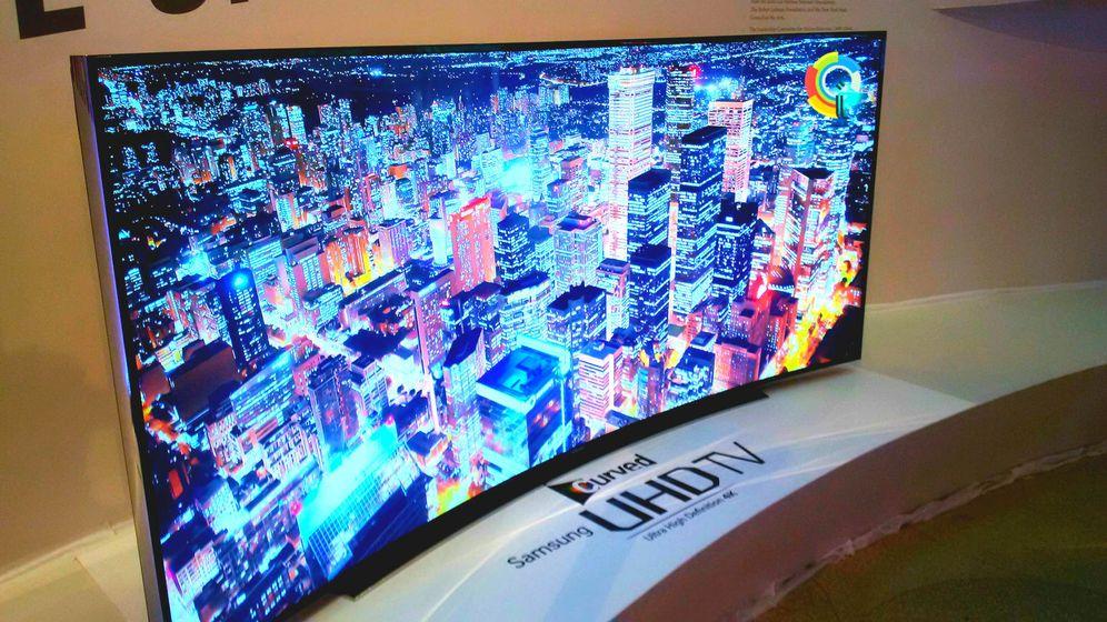Foto: Uno de los modelos de televisor conectado y 4K de Samsung.