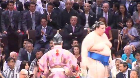 Trump, espectador de honor en el primer torneo de sumo de la Nueva era Imperial en Japón