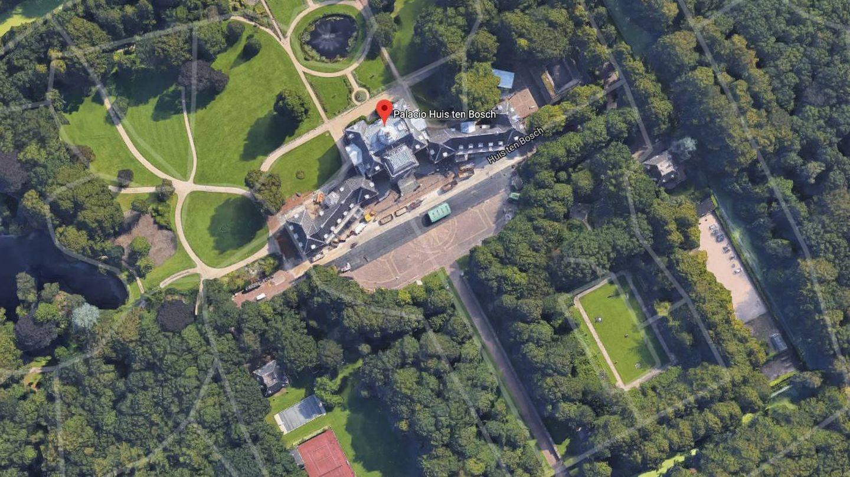 Vista áerea de Huis ten Bosch. (Google)