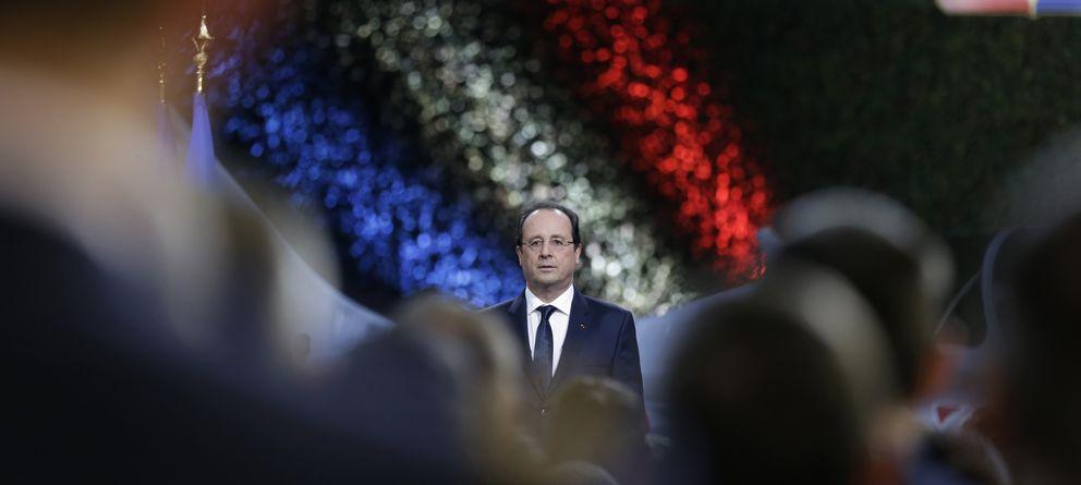 Foto: El presidente francés, François Hollande, durante una ceremonia celebrada en Creil, cerca de París (Reuters).