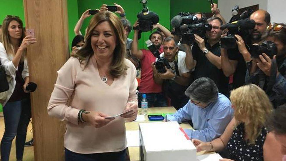 Susana Díaz vota en Triana: Si gano, pediré abrir el tiempo de la generosidad