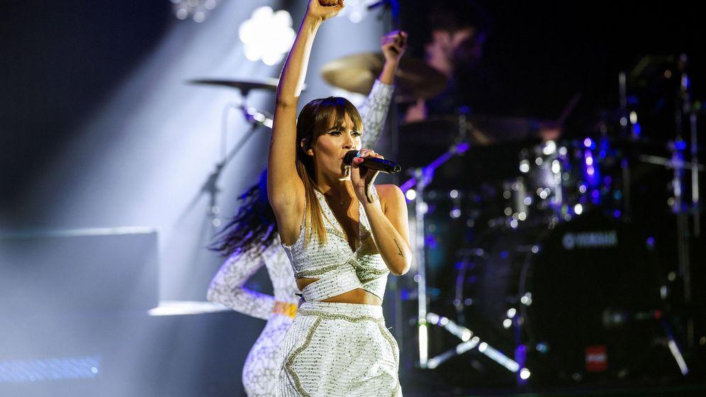 Foto: Aitana, durante su concierto en el Teatro Real de Madrid. (EFE)