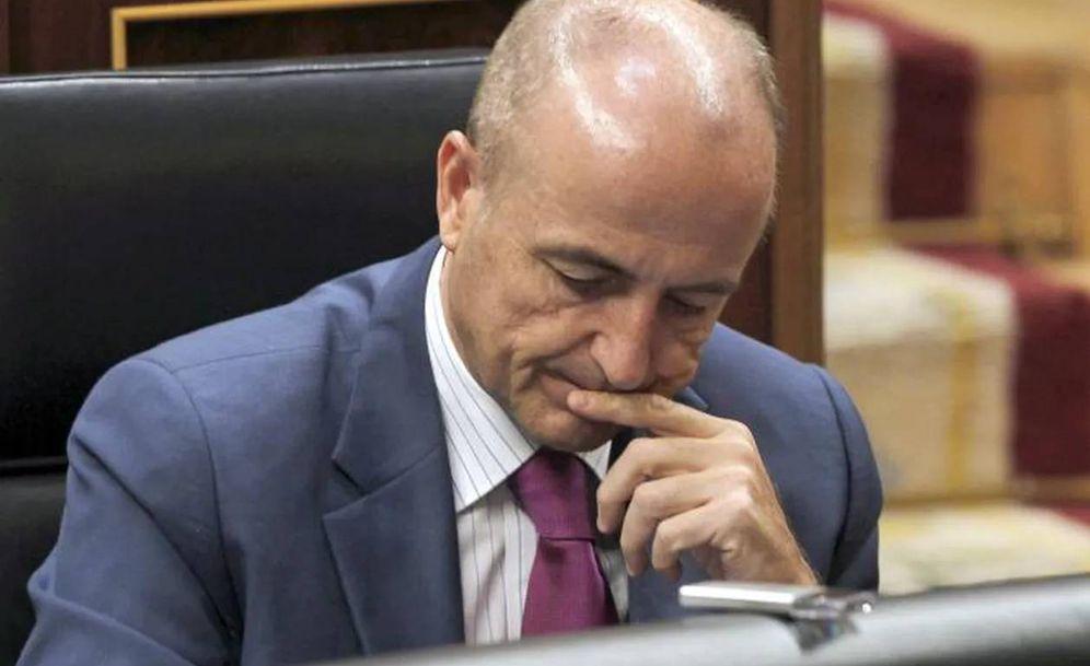 Foto: Miguel Sebastián, en el Congreso de los Diputados.