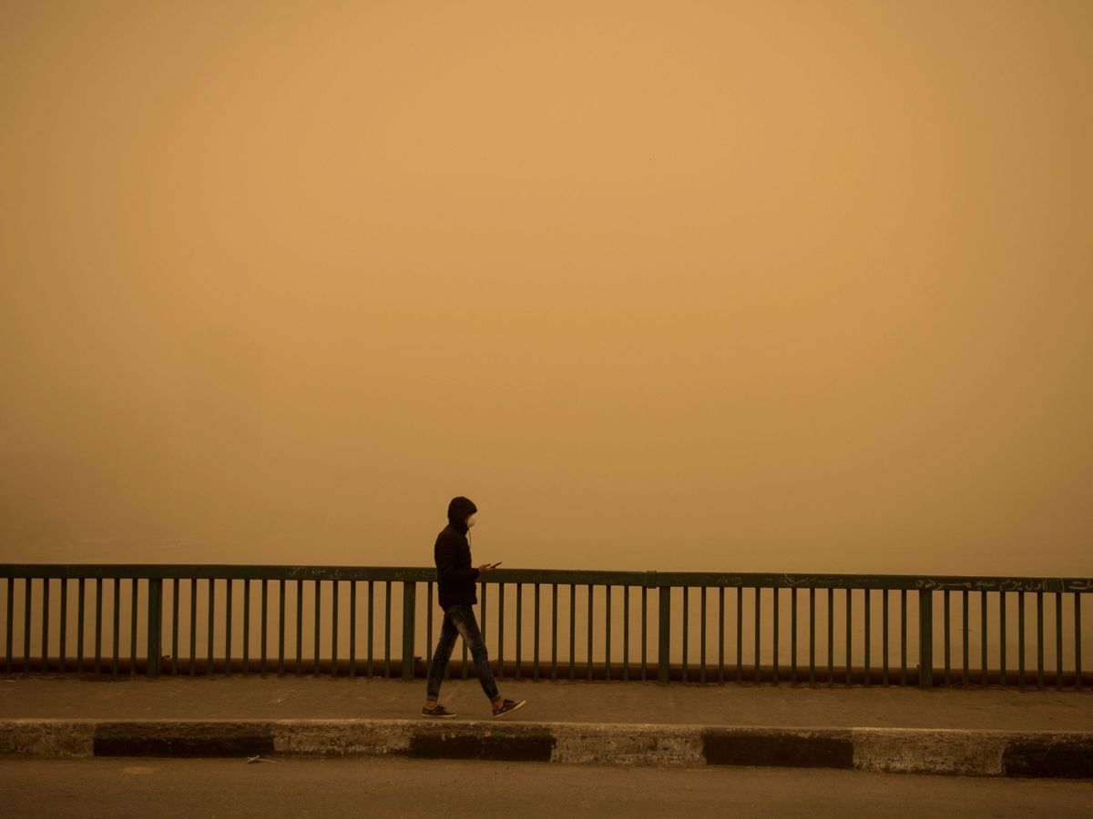 Foto: La tormenta de arena derivó en la detención del inmigrante egipcio