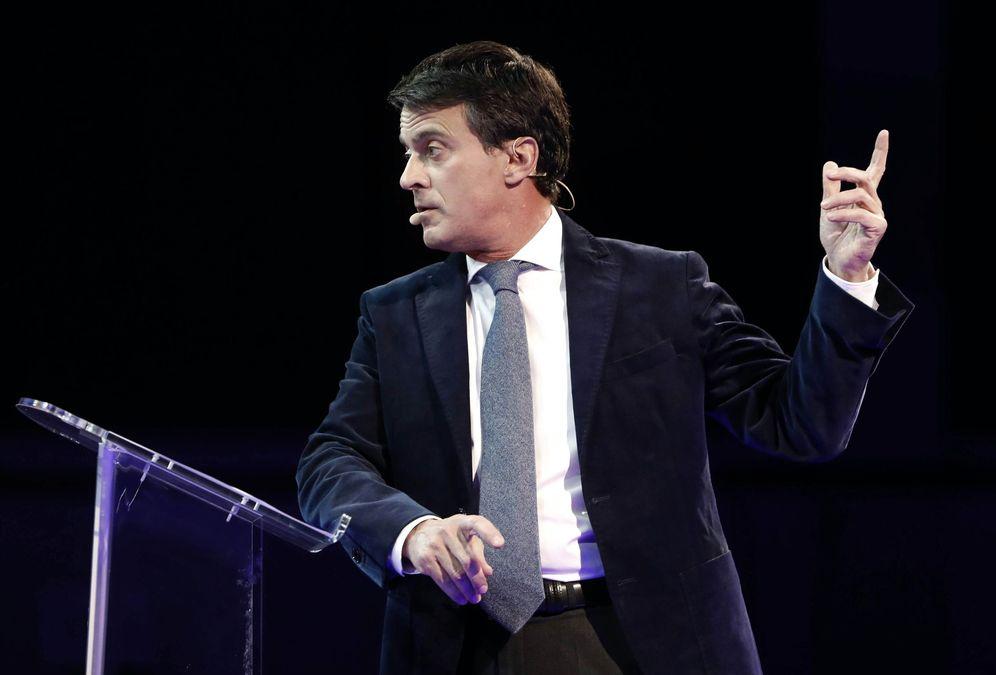 Foto: Manuel Valls durante el evento de presentación de campala en el Palau. (EFE)