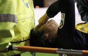 Óliver estará entre tres y cuatro semanas de baja tras la luxación del hombro izquierdo