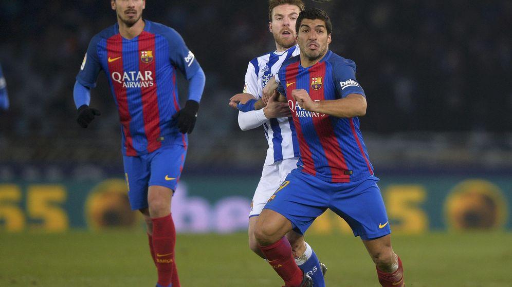 Foto: Imagen del Real Sociedad-Barcelona de la primera vuelta. (Reuters)