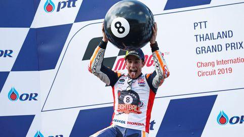 La celebración de Marc Márquez en su octavo Mundial de MotoGP.