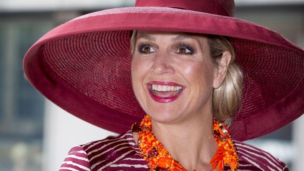 Máxima de Holanda, una reina con pamelón a lo Titanic