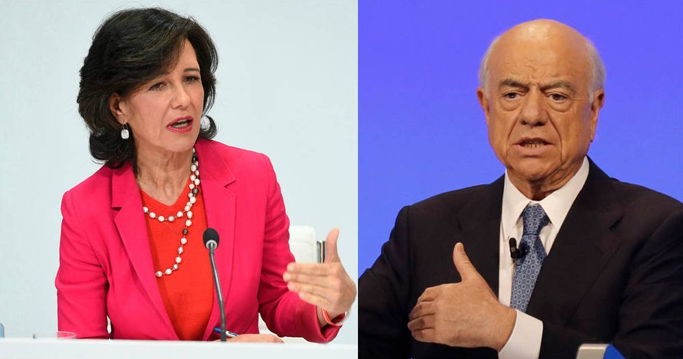 Foto: Ana Botín y Francisco González, presidentes de Santander y BBVA. (Efe)