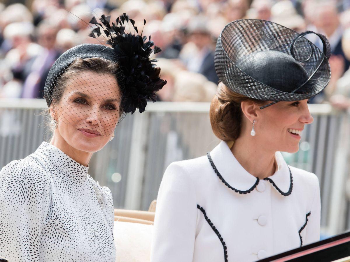 Foto: La reina Letizia y Kate Middleton. (Getty)