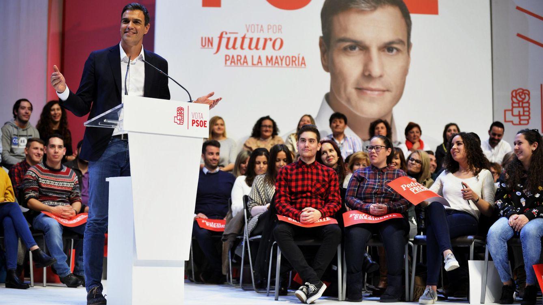 Foto: Pedro Sánchez, durante su mitin en Toledo, el pasado 9 de diciembre. (EFE)