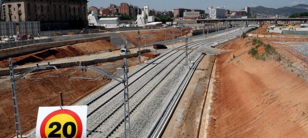 Foto: Fotografía de las obras en uno de los tramos cercanos a la estación del AVE de La Sagrera, en Barcelona (Efe)