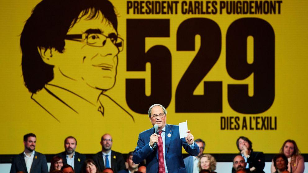 Cs denuncia a Torra ante la Junta Electoral por su felicitación partidista de Sant Jordi