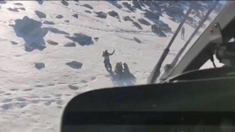 Rescatan a un hombre en Peñalara tras caer por una pendiente de hielo de 30 metros