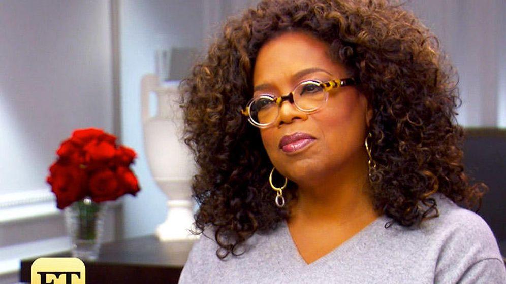 Foto: Oprah Winfrey en la controvertida entrevista sobre su 'hijo secreto'. (Entertaiment Tonight)