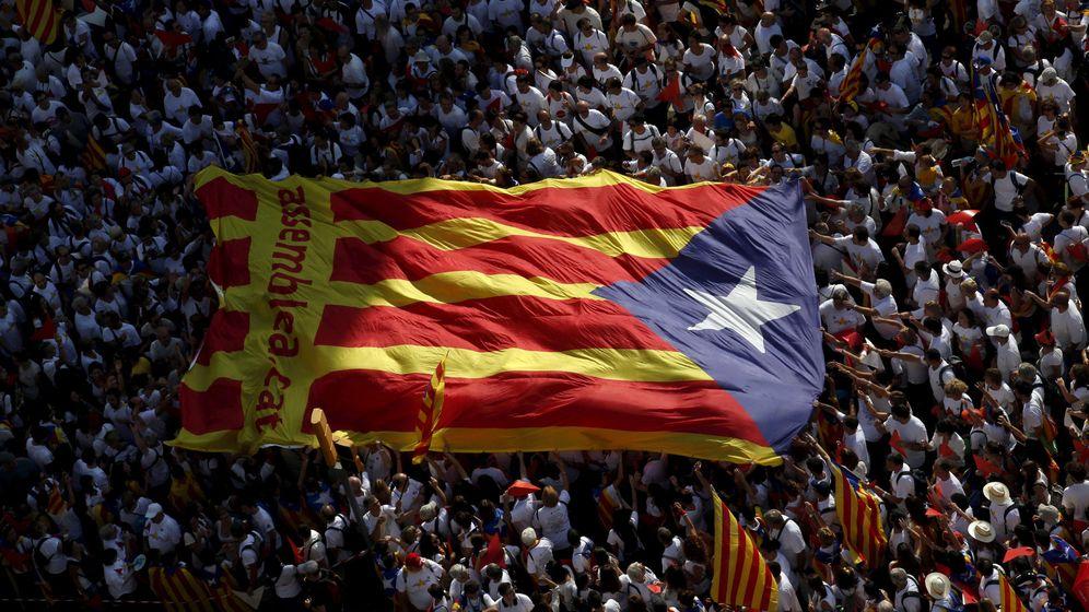 Foto: Una estelada, en la celebración de la Diada en Barcelona. (Reuters)