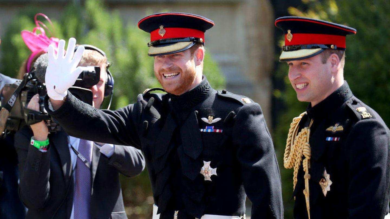 El príncipe Harry y su hermano Guillermo. (Getty)