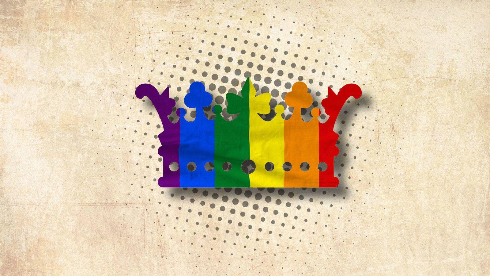 Foto:  Una corona con la bandera del arcoíris. (Vanitatis)