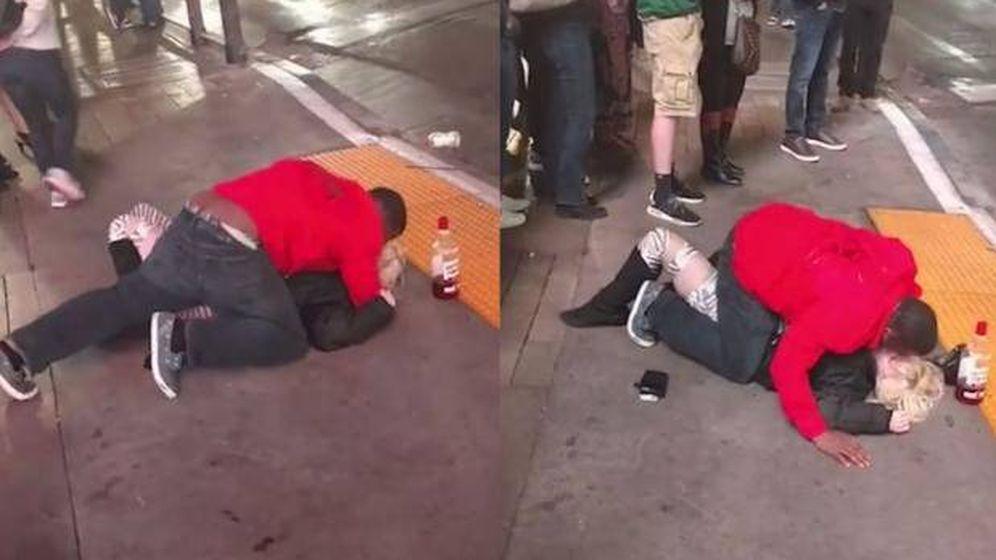 Foto: Dos escenas en plena calle. (Youtube)