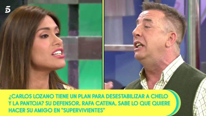 Miriam Saavedra y Rafa Catena, en 'Sálvame'. (Telecinco).