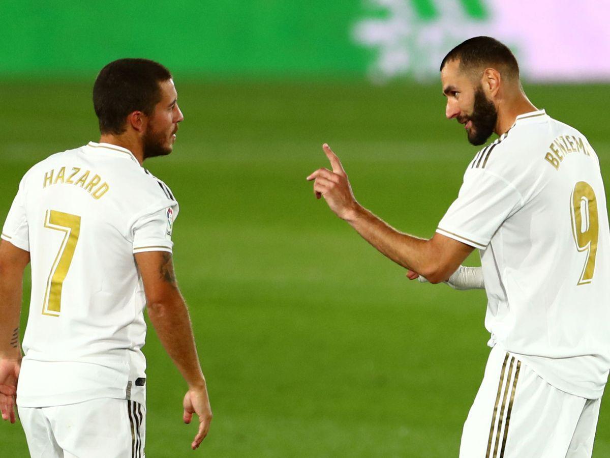 Foto: Hazard y Benzema, en una imagen de la pasada temporada. (Reuters)
