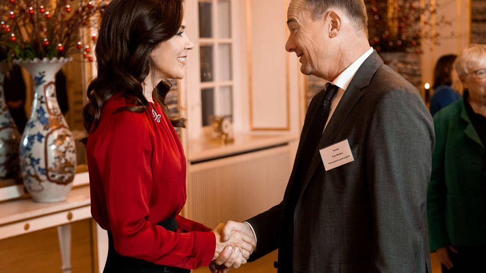 Foto: Mary de Dinamarca durante la recepción de Navidad celebrada por la Fundación Mary. (Fundación Mary)