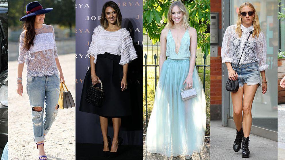 Tres formas impecables de llevar el encaje sin parecer una Kardashian