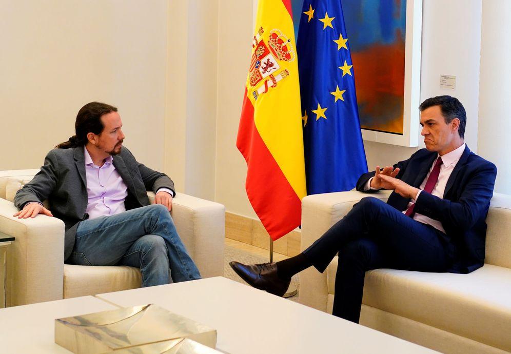 Foto: Pedro Sánchez y Pablo Iglesias, el pasado 7 de mayo en la Moncloa. (Reuters).