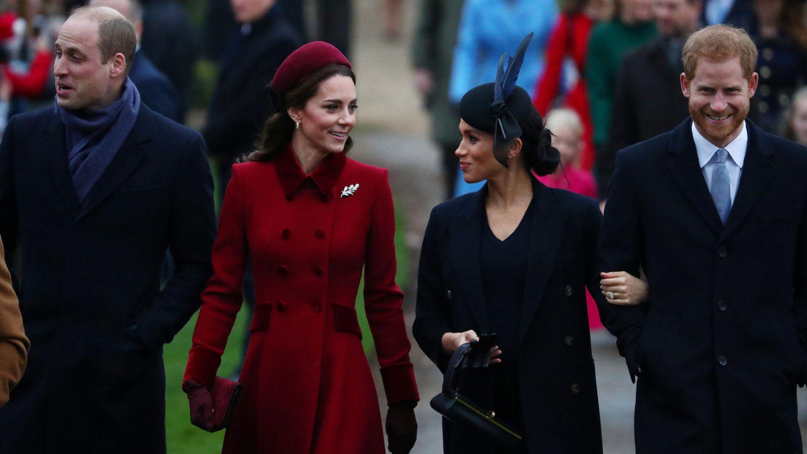 Foto: Los duques de Cambridge y los duques de Sussex en una imagen de archivo. (Reuters)
