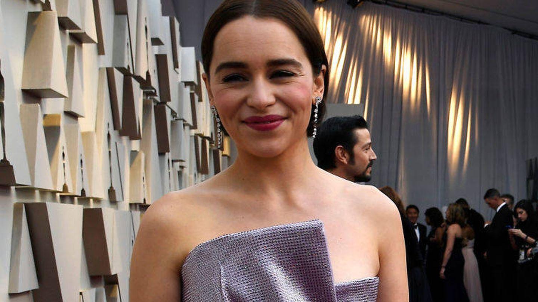Emilia Clarke, otra nueva morena en la noche de los Oscar. (Getty)