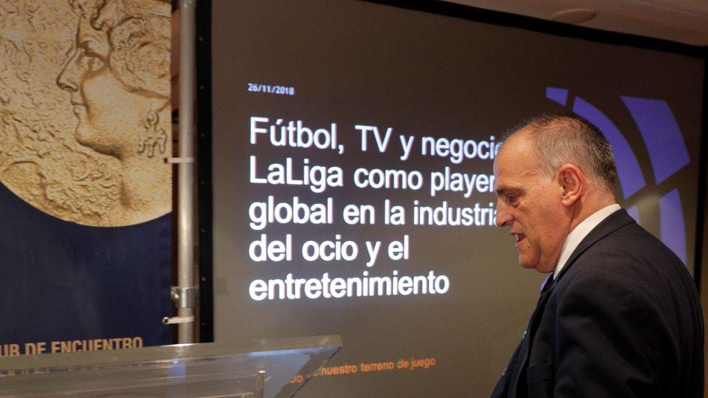 Foto: Javier Tebas, en un acto reciente. (EFE)