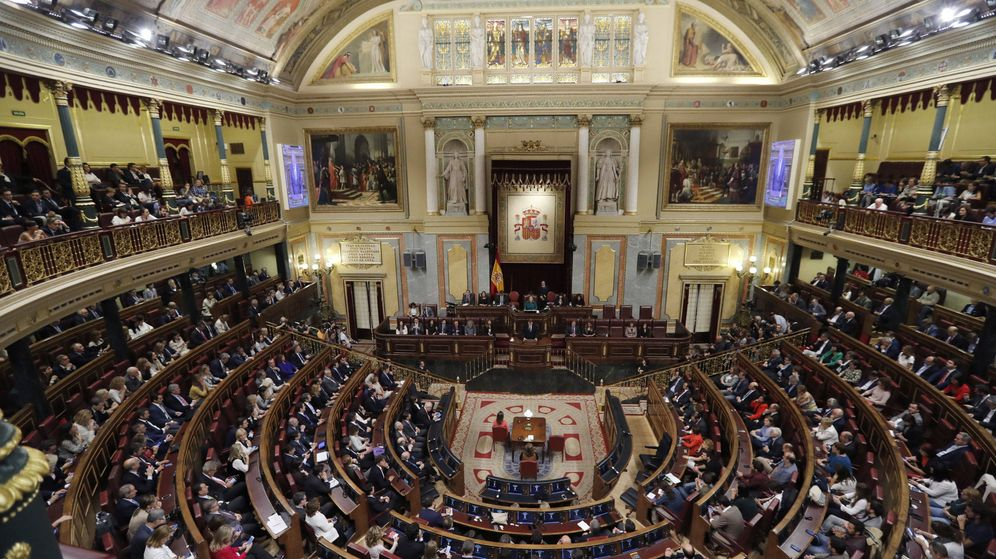 Foto: Mariano Rajoy (c) pronuncia su discurso en el debate de investidura de octubre de 2016. (EFE)
