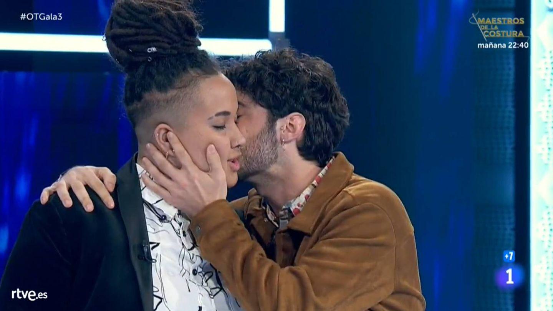 Eli y Rafa, en la gala 3 de 'OT 2020'. (TVE)