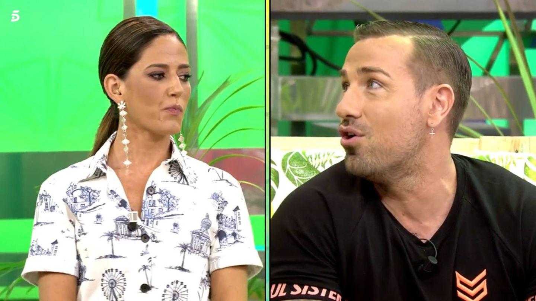Nuria Marín y Rafa Mora, en 'Sálvame diario'. (Telecinco)