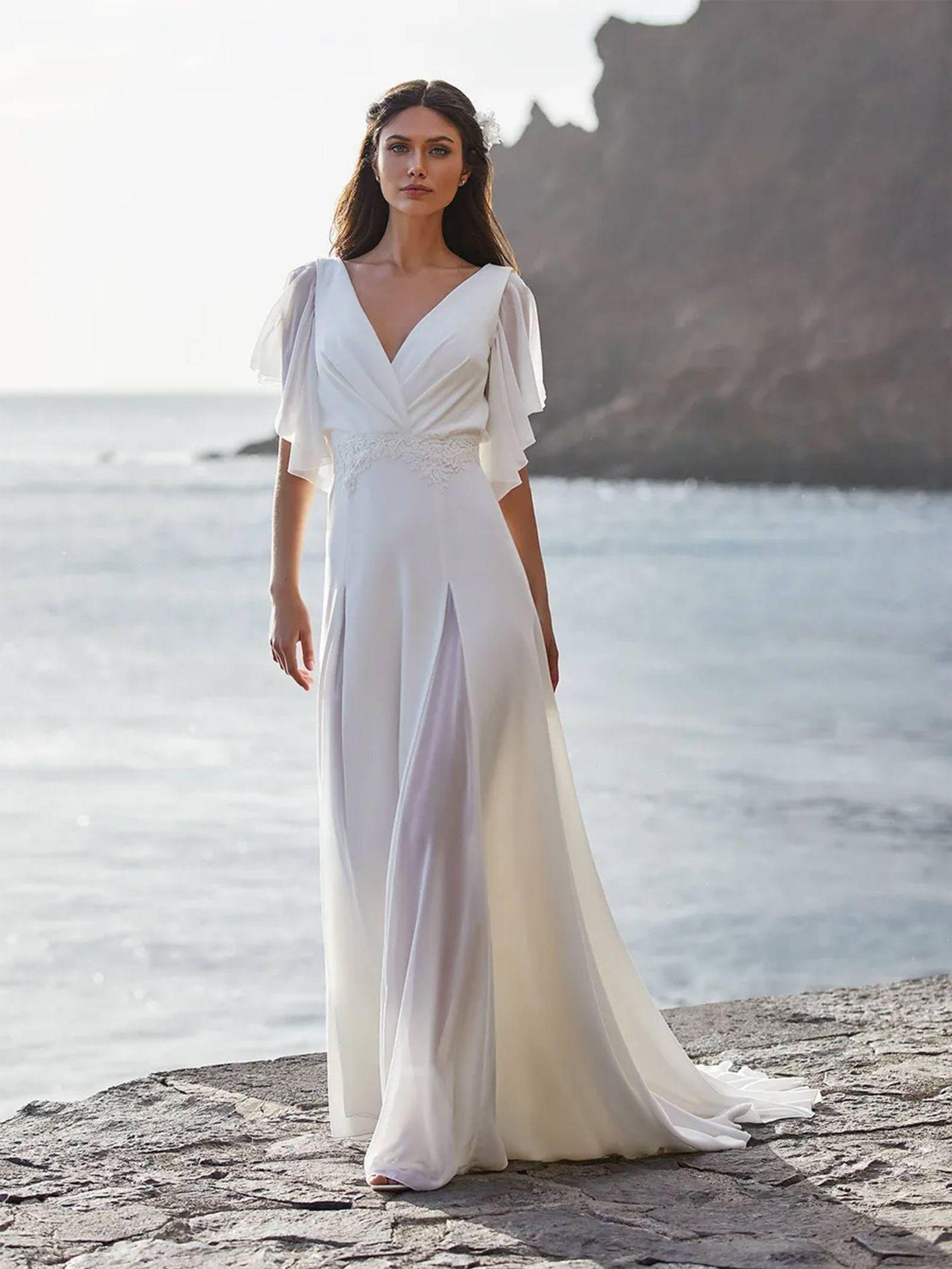 Vestido de novia de Pronovias. (Cortesía)
