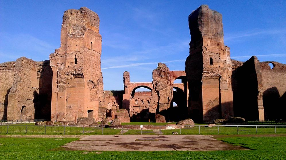 Foto: Termas de Caracalla. (Wikimedia Commons)