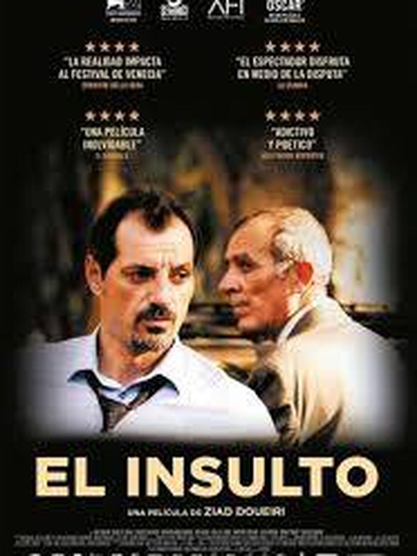 Cartel de 'El insulto'.