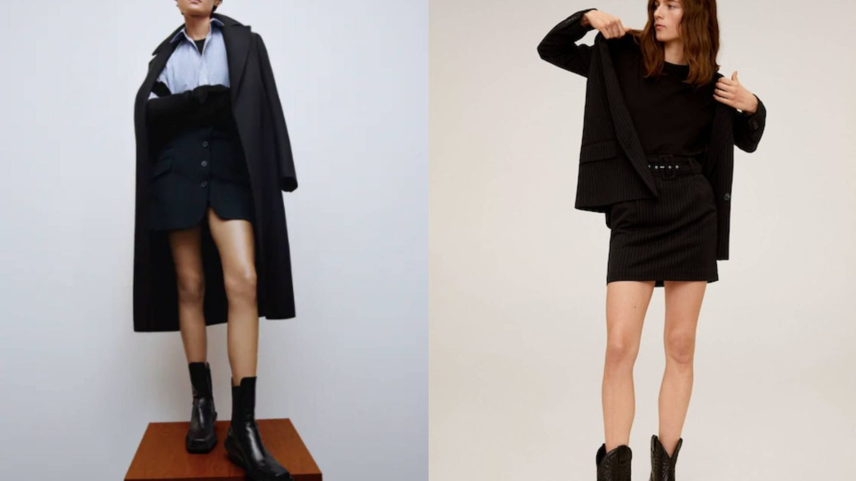 Dos minifaldas de tendencia. (Cortesía)