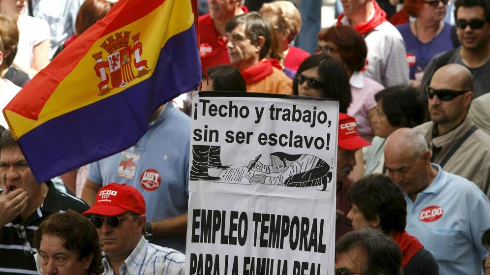 Foto: Manifestación en Madrid con motivo del Día Internacional del Trabajo. (EFE)