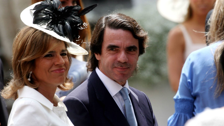 Ana Botella y José María Aznar, en la boda de Flavio Briatore. (Getty)