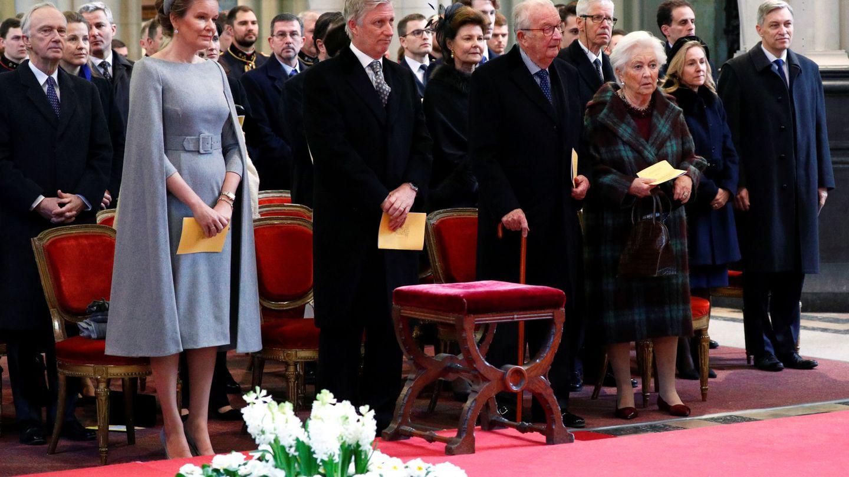 Los reyes Felipe y Matilde, junto a Alberto y Paola de Bélgica. (Reuters)