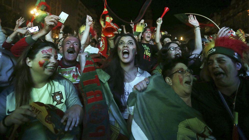 Foto: Los portugueses salieron a la calle a celebrarlo (EFE)